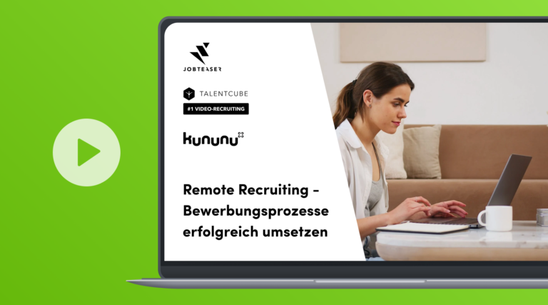 Remote Recruiting – successfully implement application processes online