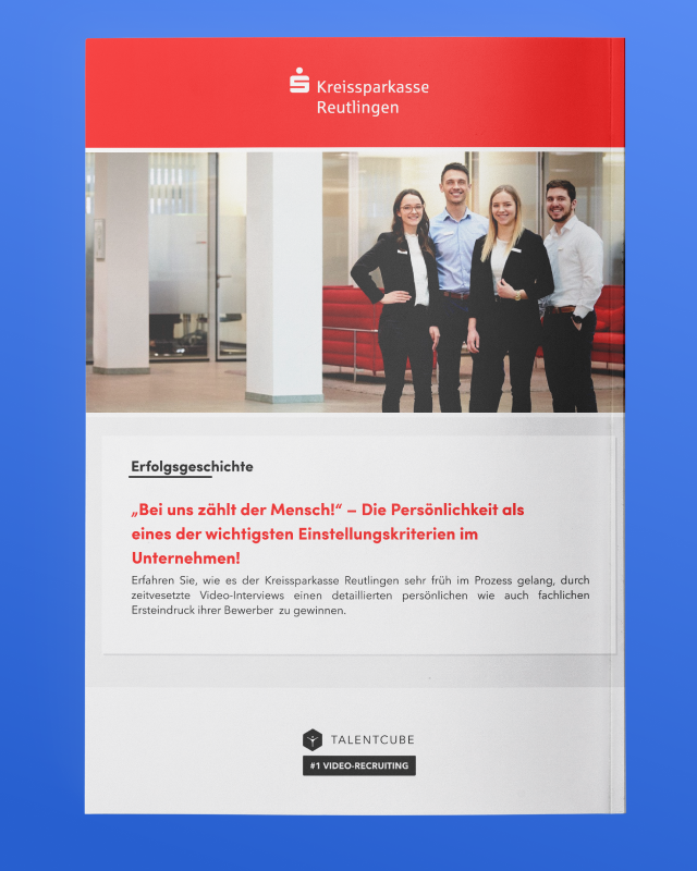 Sparkasse Reutlingen – Personality as one of the most important recruitment criteria in the company